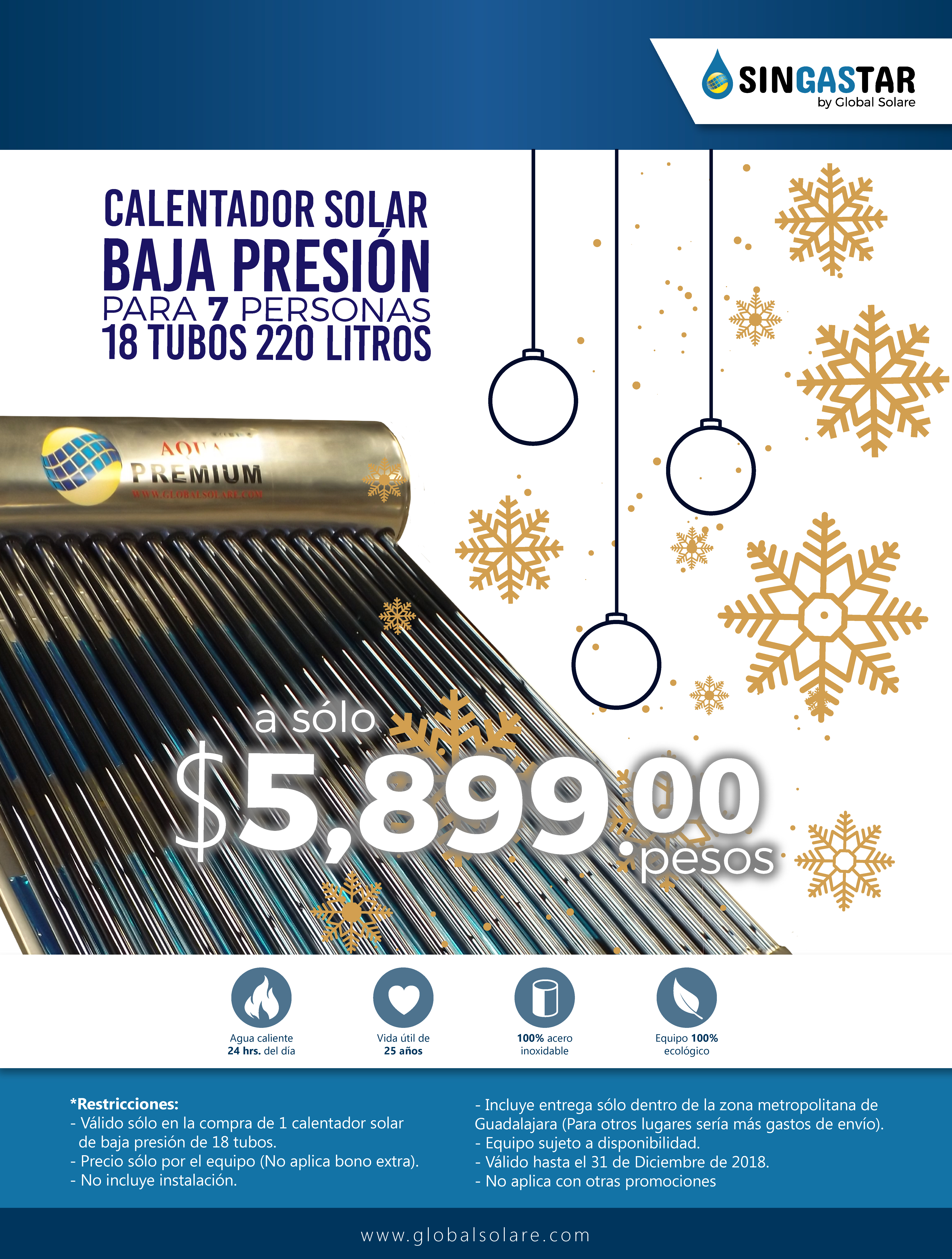 Promocion Termosolar 8 tubos BP 2018